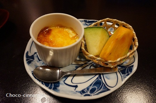 クリームブリュレ、メロン、柿.JPG