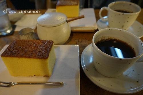 コーヒー、カステラ.JPG
