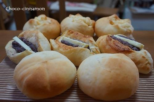 柚子あんパン、あんバター、たけのこパン.JPG